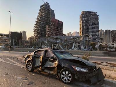 Beirut: Abarenga 100 bahitanywe n'impanuka y'ibiturika abarenga 4000 barakomereka