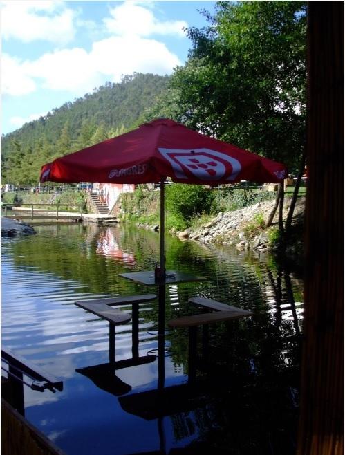Mesa por cima da água do Rio Ceira