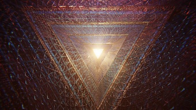 Papel de Parede Triângulo Abstrato