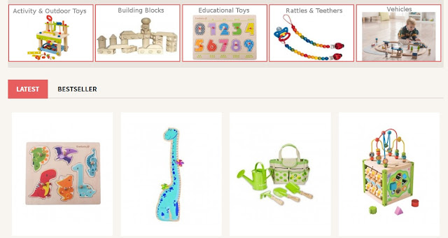 Ecotoys, a site for wooden toys in the UAE