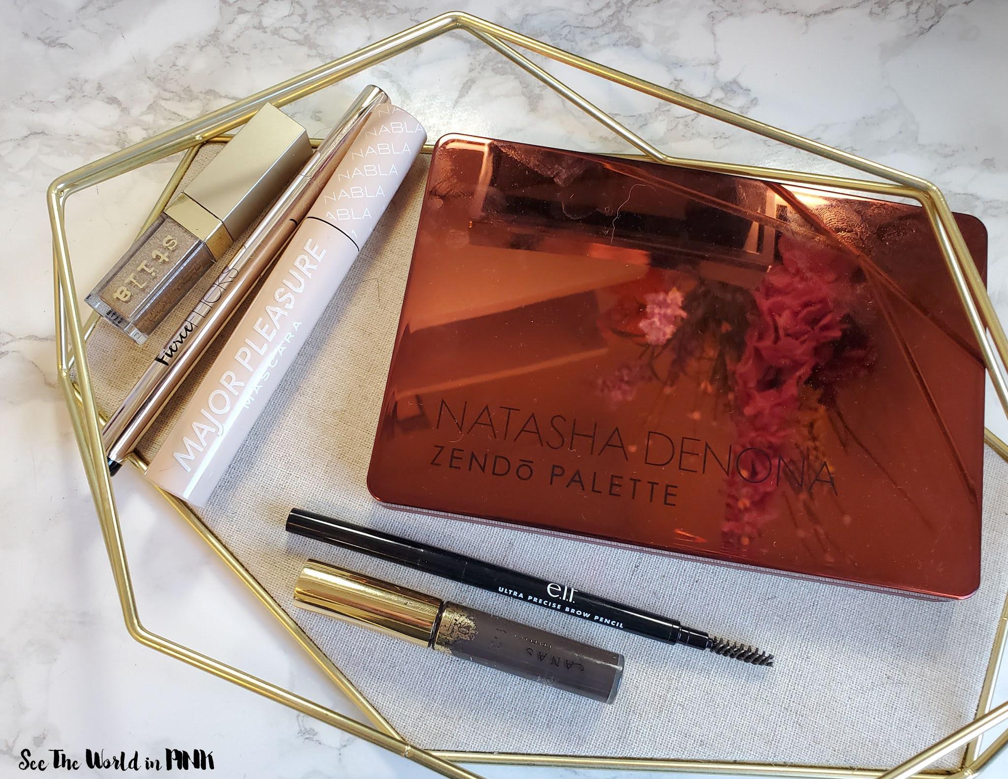 June Shop My Stash ~ Summer Bright Red Lipstick Look featuring Cheekbone Beauty Sustain Lipliner and Lipstick