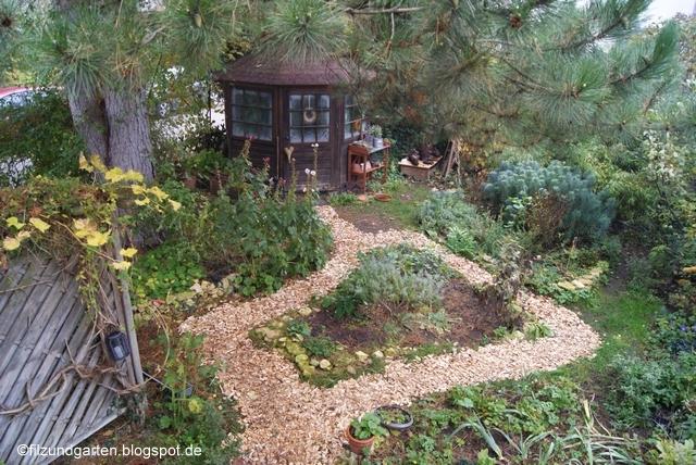 Blick in den Novembergarten von oben