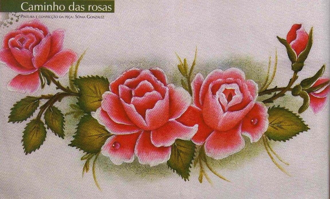 Dibujos De Rosas Para Pintar En Tela Imagui