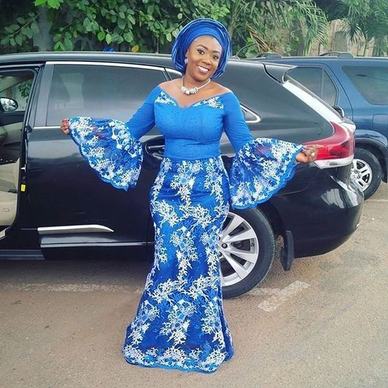 Unique Latest Aso Ebi Long Gowns for Owambe Rockers Next Weekend ...