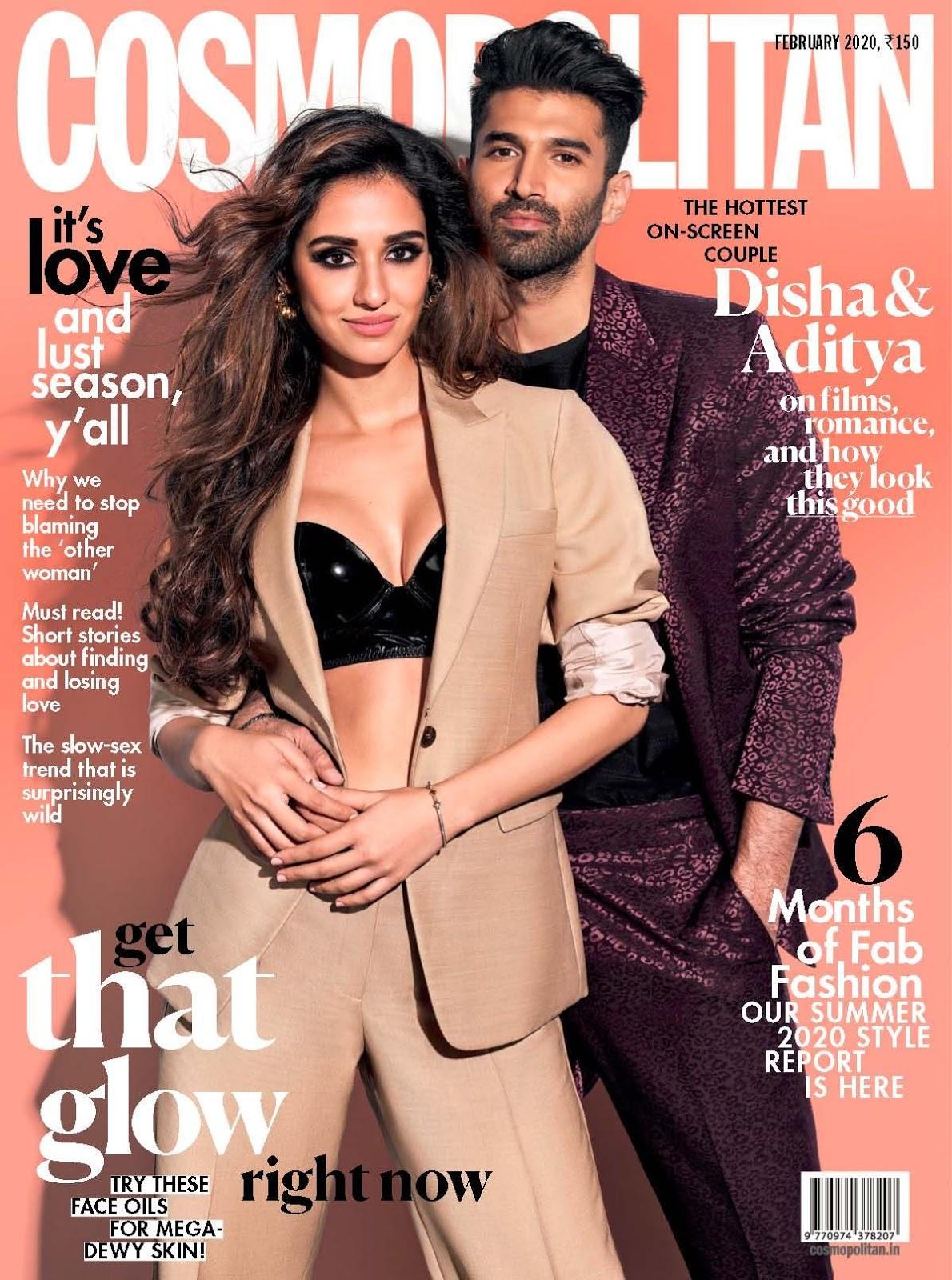 Disha Patani and Aditya Roy Kapur cover Cosmopolitan India February 2020