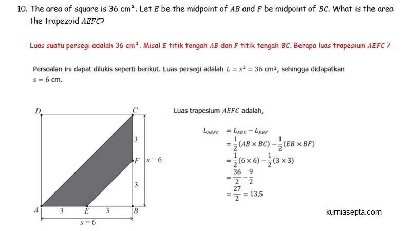 Soal Latihan KSN Matematika SD Paket 6 Tahun 2021 dan Kunci Jawabannya