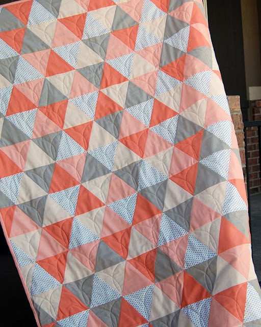 Mod Triangle baby quilt tutorial from the Cloth Parcel