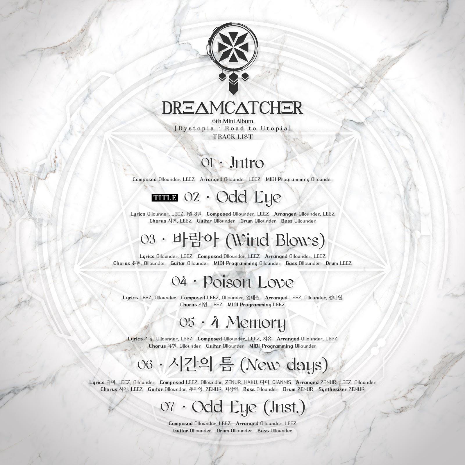 dreamcatcher dystopia road to utopia tracklist
