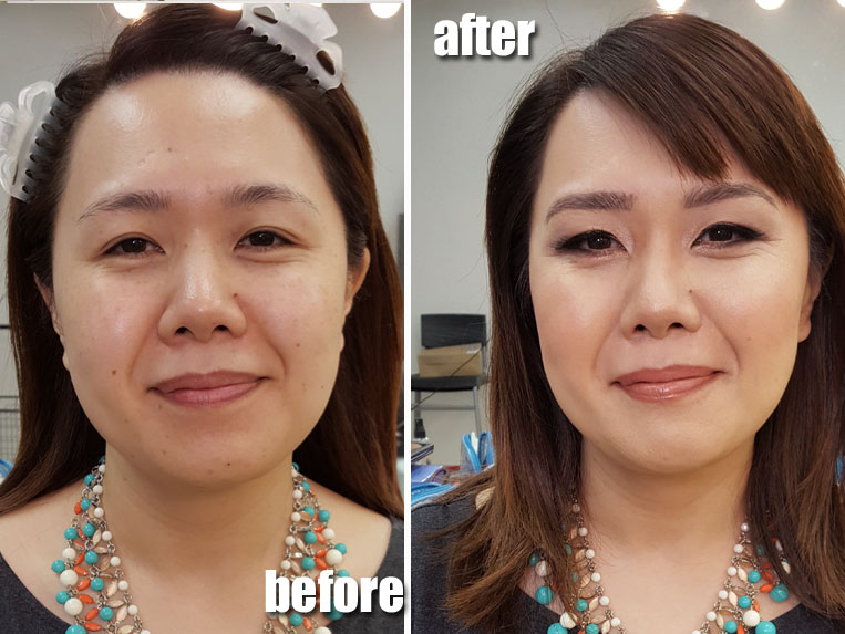 Asian Makeup Natural Before and After