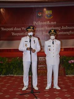 Di Lantik di Jambi Muhammad Fadhil Arief SE Dan H. Bakhtiar SP Resmi jadi Bupati Dan Wakil Bupati Batangahari