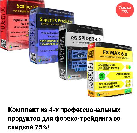 Комплект из 4-х продуктов форекс: Fx Max 6, GS Spider 4.0, Super FX Predictor, Scalper X2 (Andrey Almazov)