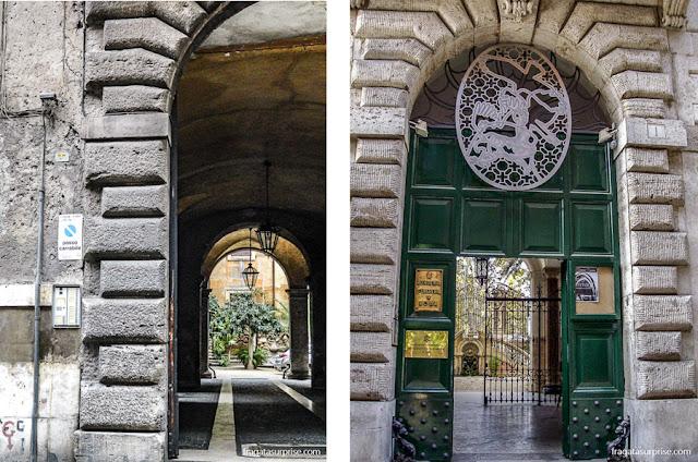 Palácios renascentistas na Via Giulia, em Roma