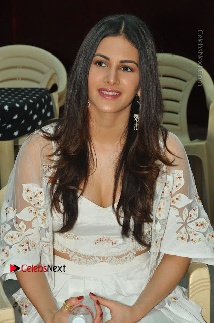 Telugu Actress Amyra Dastur Stills in White Skirt and Blouse at Anandi Indira Production LLP Production no 1 Opening  0002