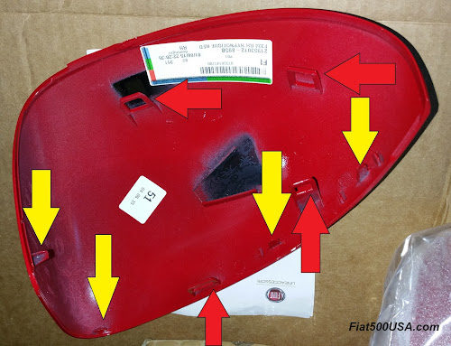 Fiat 500X Mirror Cover Back