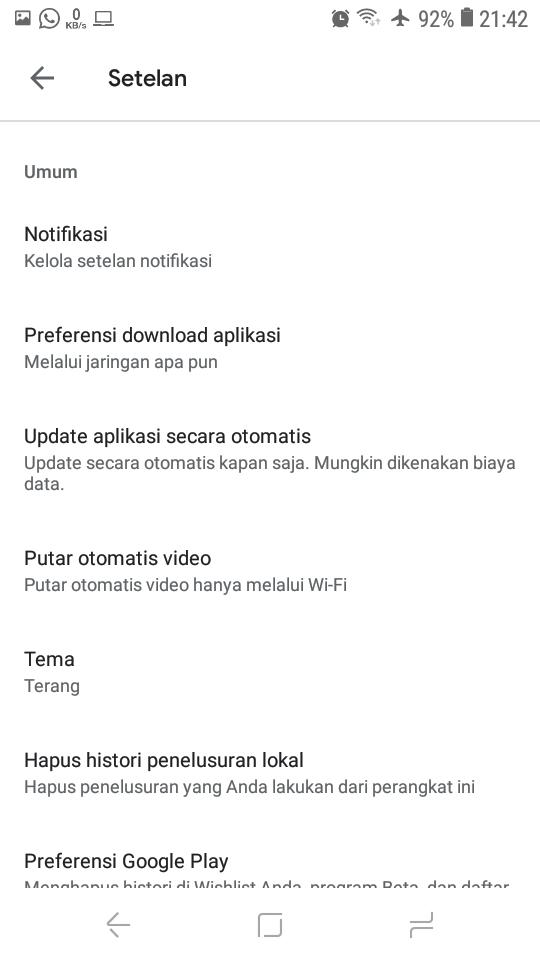 Versi Google Play Store Sudah yang Terbaru