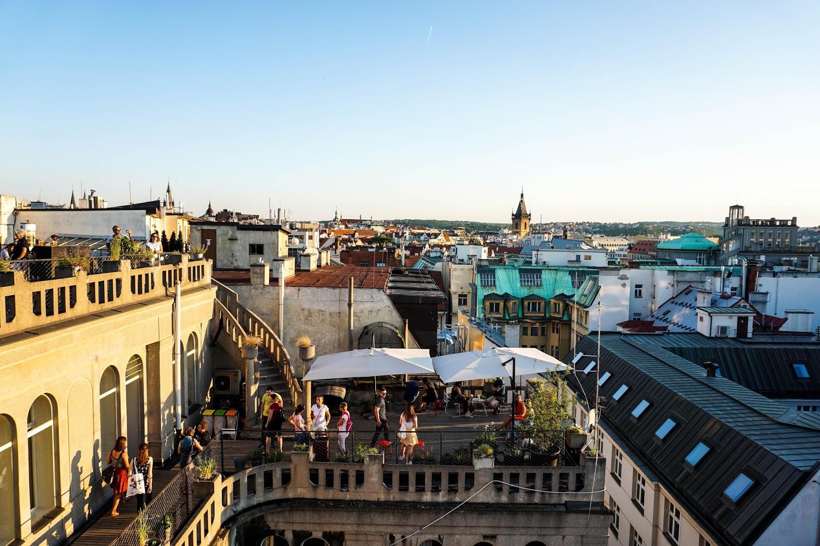 Dach Pałacu Lucerna