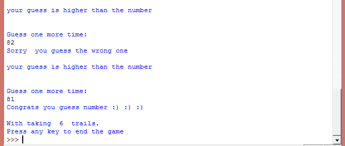 Guess my number game in python: | Play with python