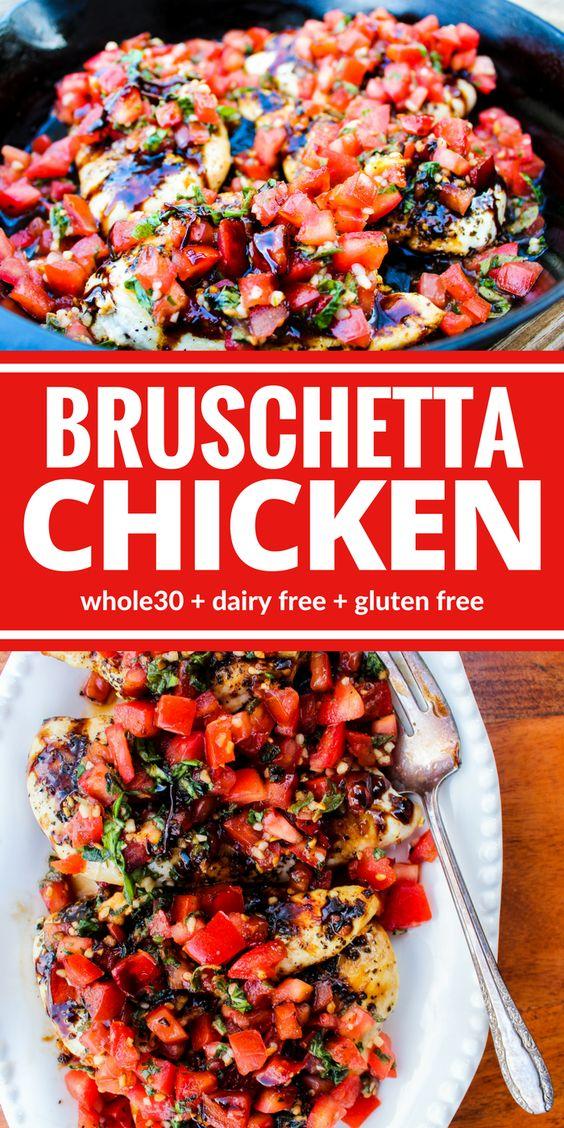 The Best Healthy Bruschetta Chicken