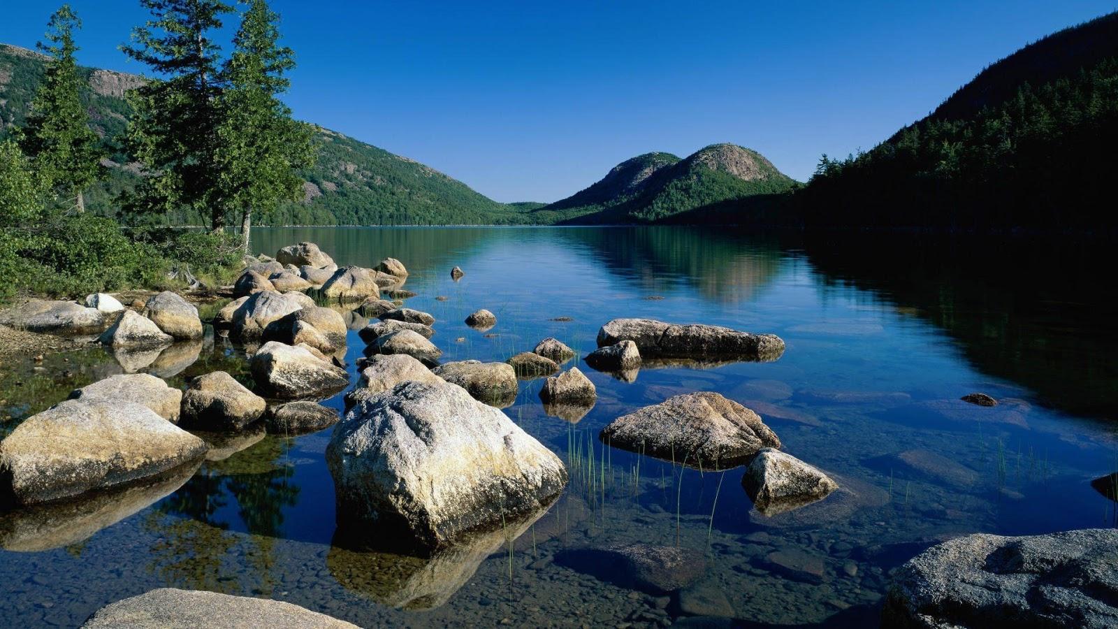 jordan pond acadia national park maine lake reservoir national wallpaper
