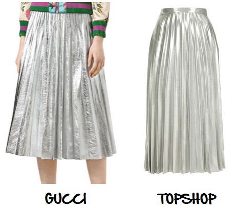 clones 2016 falda plisada gucci topshop