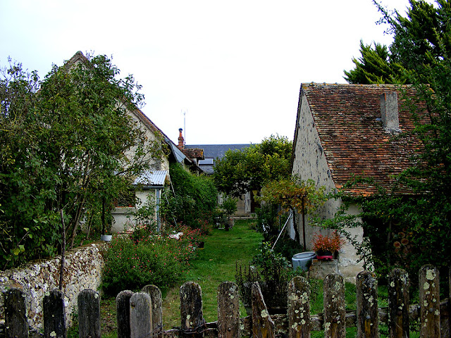 Garden in a hamlet. Indre et Loire. France. Photo by Loire Valley Time Travel.