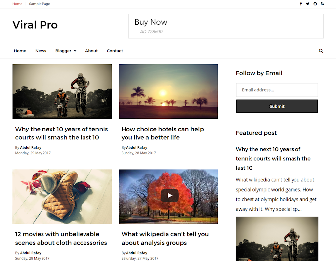 Viral Pro Responsive Blogger Template