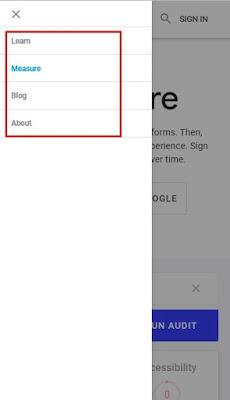 menu navigasi yang mudah untuk pendaftaran Googlr AdSense