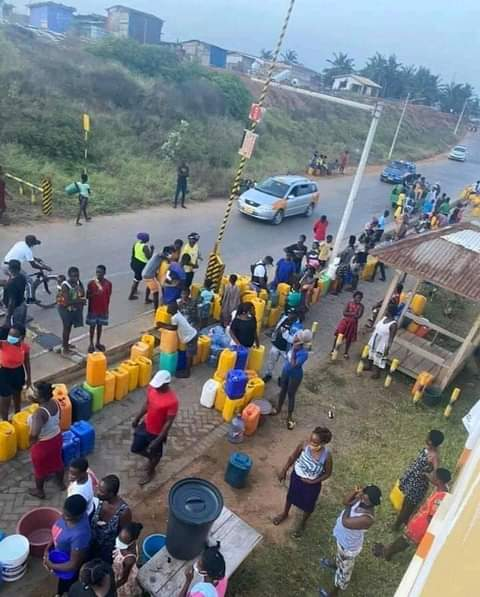 Residents of Kpone troop to Sunon Asogli power Ltd to beg for water.
