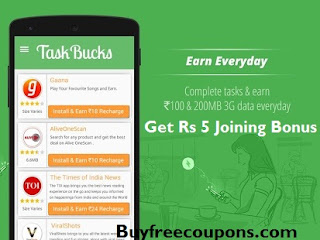 taskbucks app for earn free recharge