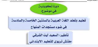 ديداكتيك اللغة العربية بالمستويين الخامس والسادس ابتدائي وفق مستجدات المنهاج المنقح