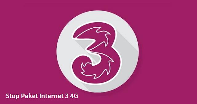 cara berhenti paket internet 3 bulanan