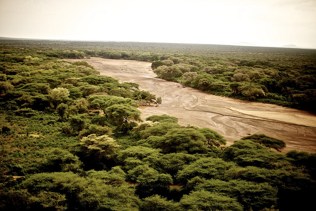 The Ekuma River is one of the seven disappearing rivers in Namibia Africa.