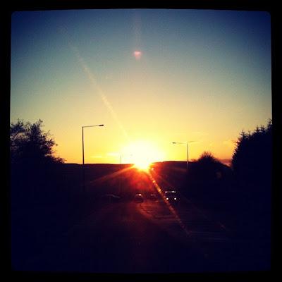 inspring sunset