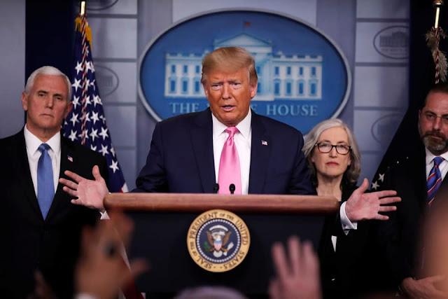 Tổng thống Mỹ đọc bài diễn văn quan trọng tại Nhà Trắng về dịch corona