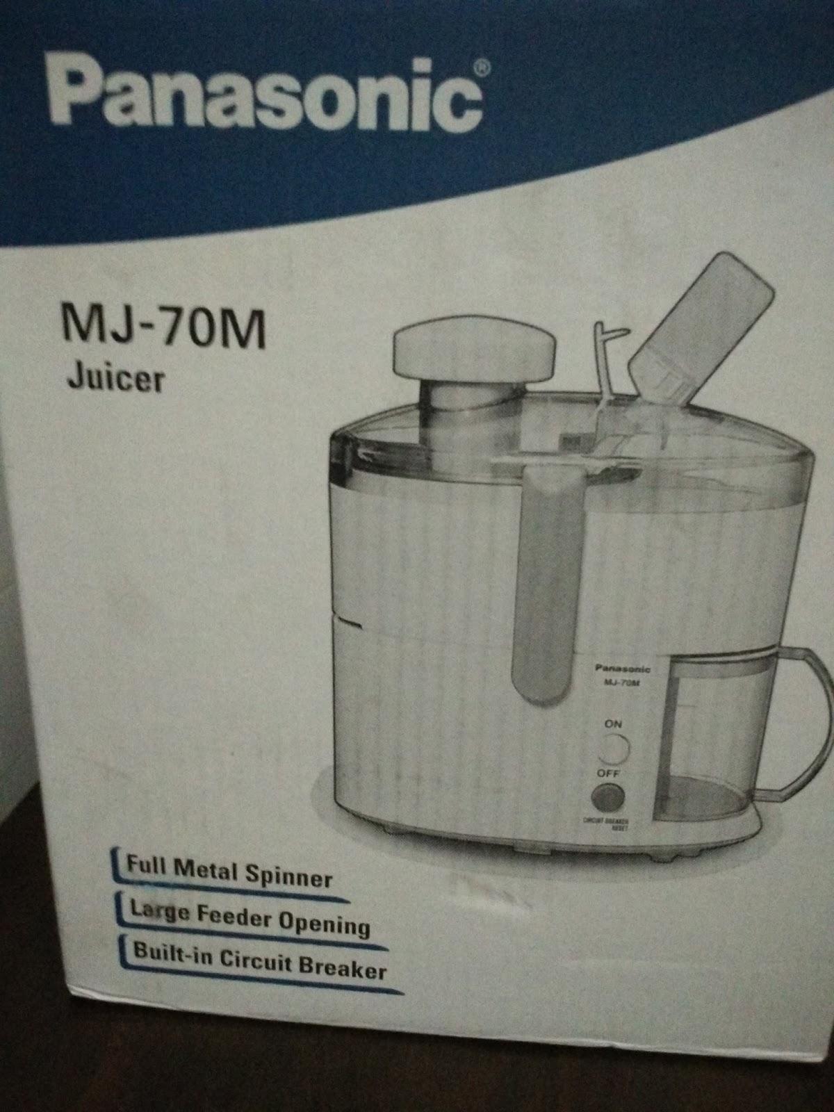Panasonic Slow Juicer Spare Parts : PANASONIC JUICER MJ-70M-UB > Review - AURA blogger