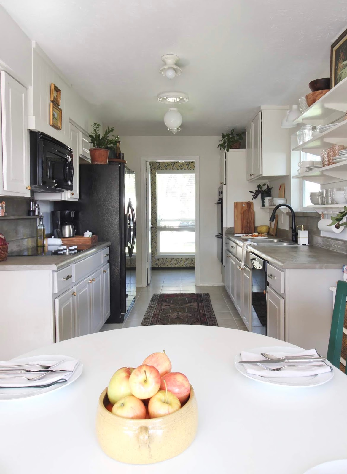 One room challenge budget kitchen makeover concealed hinges | House Homemade