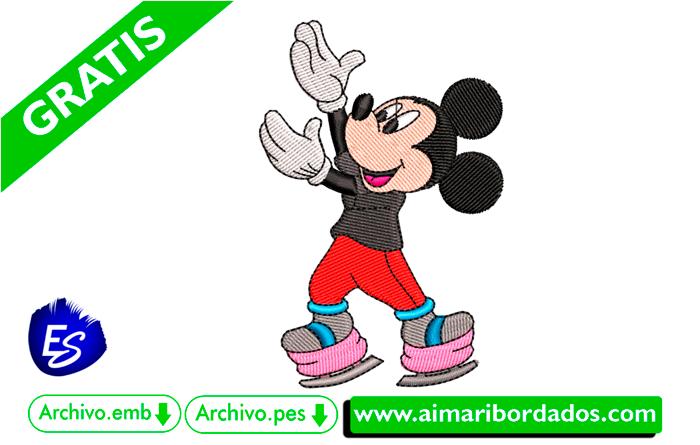 Mickey Mouse Disney para bordar a máquina DESCARGA GRATIS