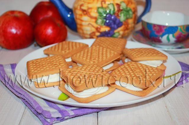 рецепт десерта с печеньем и зефиром