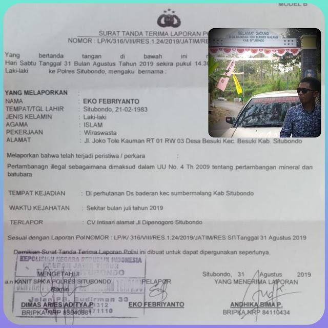 Eko Siti Jenar Menduga Ada Praktek Illegal Loging dan Illegal Mining di Lakukan Oknum Perhutani