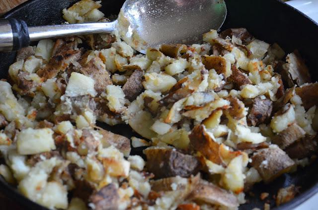 Fried Potato Skins to top Baked Potato Soup Recipe.