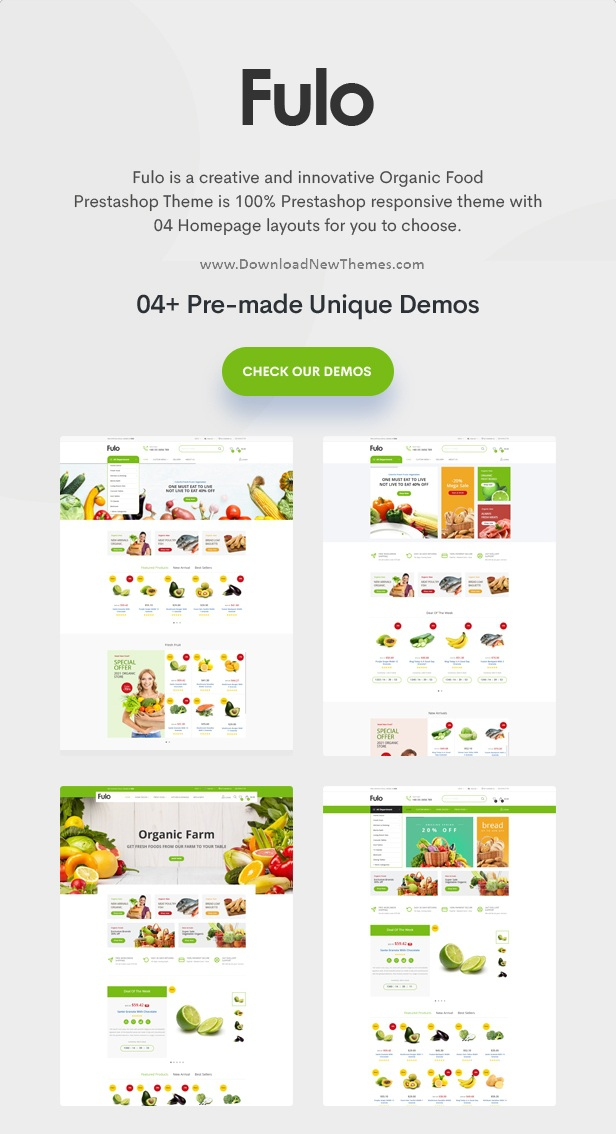 Organic & Food Responsive Prestashop Theme