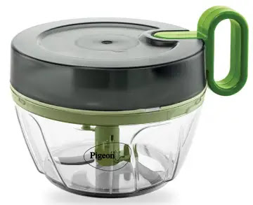 Pigeon Plastic Handy and Compact Chopper Pro with 3 Blades, Multicolour