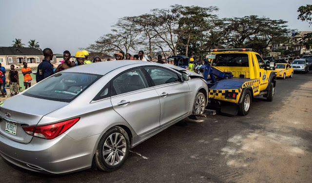 One Killed As Dangote Truck Damages Two Cars In Magodo, Lagos3