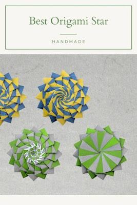 cara membuat origami bintang kejora
