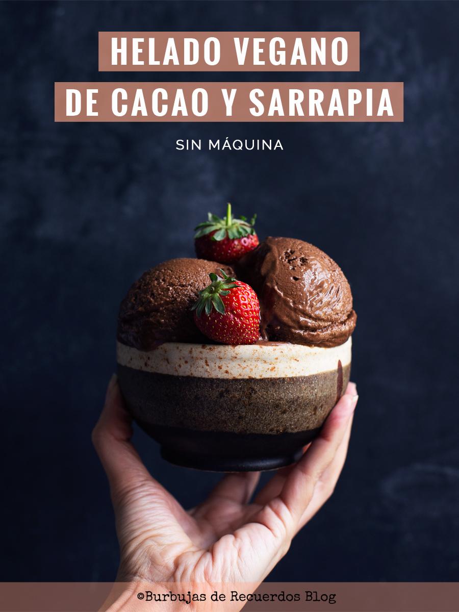 Helado de cacao vegano y cómo hacer helados cremosos sin máquina.