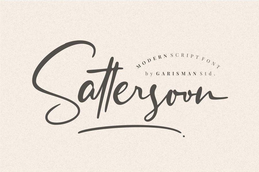 Sattersoon - Modern Script Font - Free Script Fonts