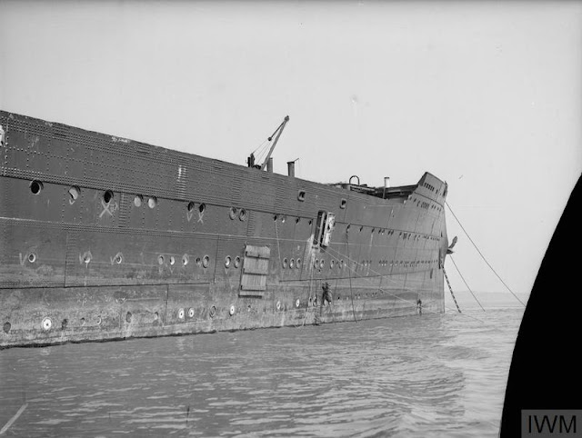 Raising HMS Caledonia from the Firth of Forth on 3 May 1942 worldwartwo.filminspector.com