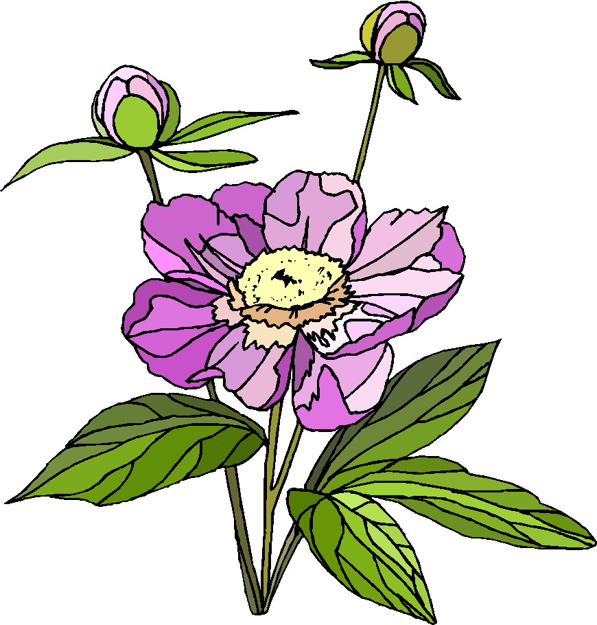 clipart trees and flowers - photo #35