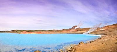 Fotografía panorámica del lago Myvatn