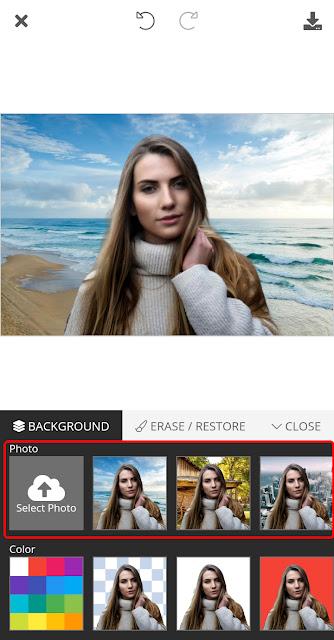 Ganti background foto dengan mudah